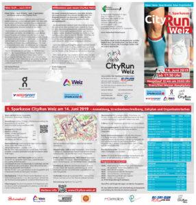 Folder Flyer des Cityruns Weiz