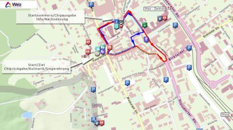 Orientierungskarte CityRun Weiz 2019