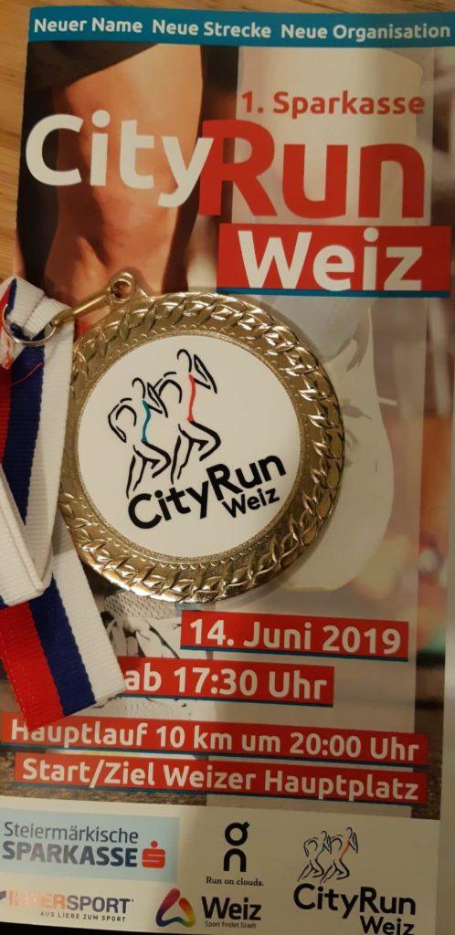 Medaillen für den CityRun