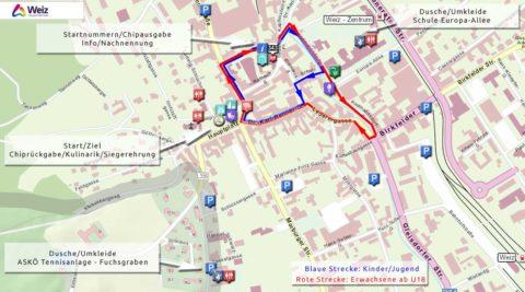 CityRun Weiz Orientierungskarte